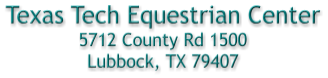 TT Equestrian Center Address